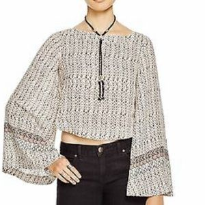 "Free People ""Stars Aligned"" bell sleeve blouse"